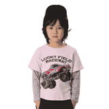 Monster Truck Layered Tee - PINK sp18