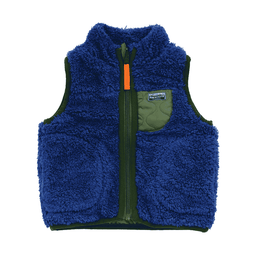 mixed color reversible vest navy blue