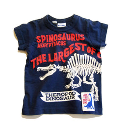 Dino Bone Printed Tee - NAVY BLUE 18ss - Bit'z Kids