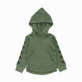 star sleeves hoodie army green