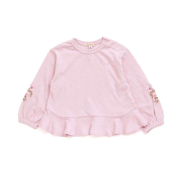Peplum Long Sleeve Tee - PINK sp18