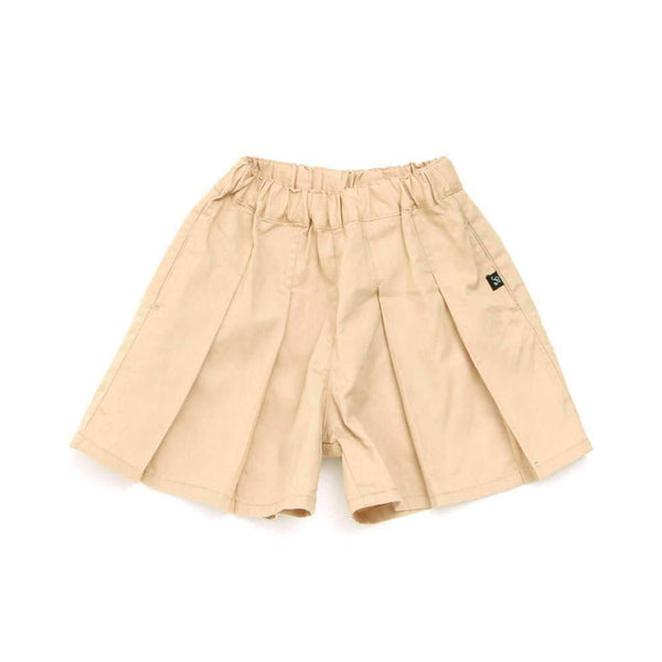 Pleated Shorts - BEIGE sp18