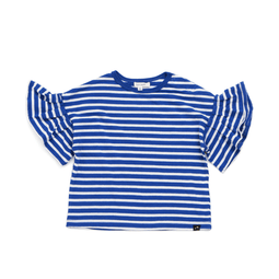 Frilled Sleeves Striped tee - BLUE 18ss - Bit'z Kids