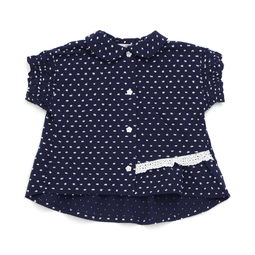 Girls' Shirring Sleeves Blouse - SKY BLUE 18ss - Bit'z Kids