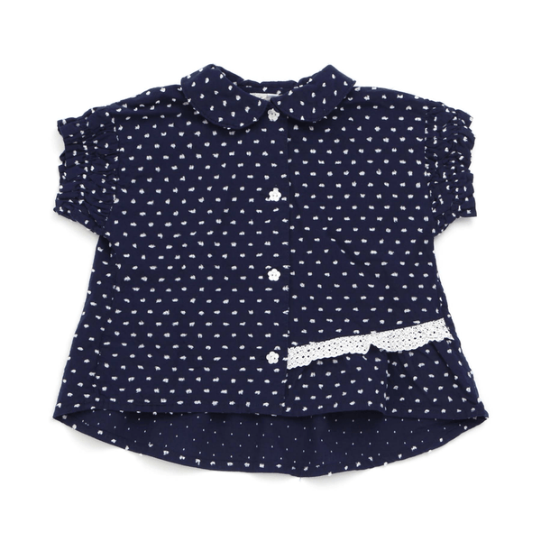 Girls' Shirring Sleeves Blouse - SKY BLUE 18ss