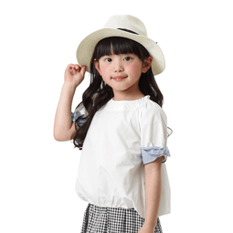 Girls' Striped Tunic - OFF WHITE 18ss - Bit'z Kids