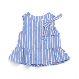 Girls' Peplum Tunic - SKY BLUE 18ss - Bit'z Kids