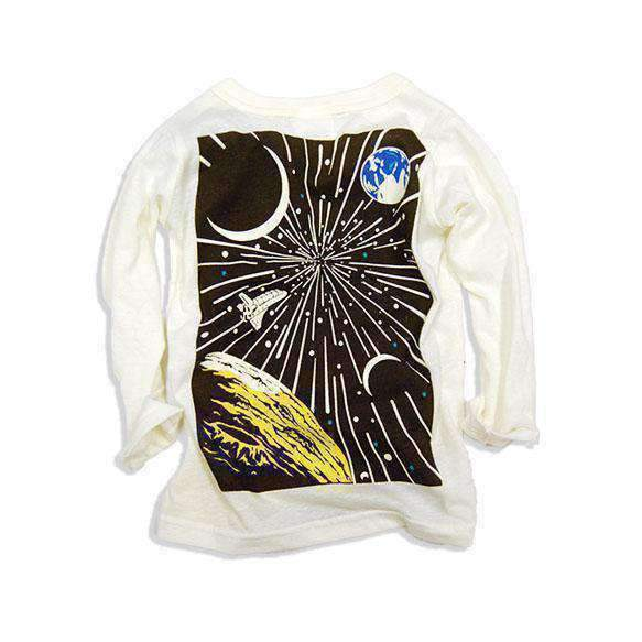 glow in the dark astronaut tee off white