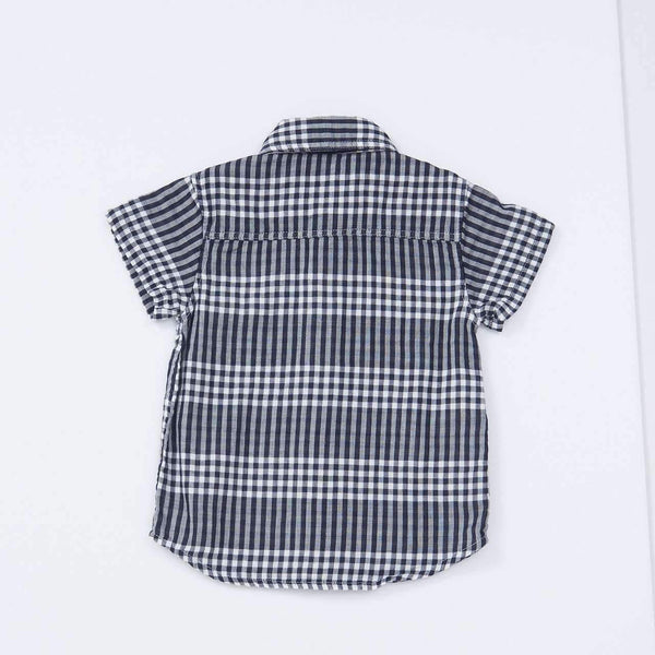 W Gauze Reversible Shirt - CHARCOAL 18ss
