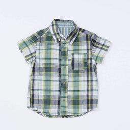 W Gauze Reversible Shirt - GREEN 18ss