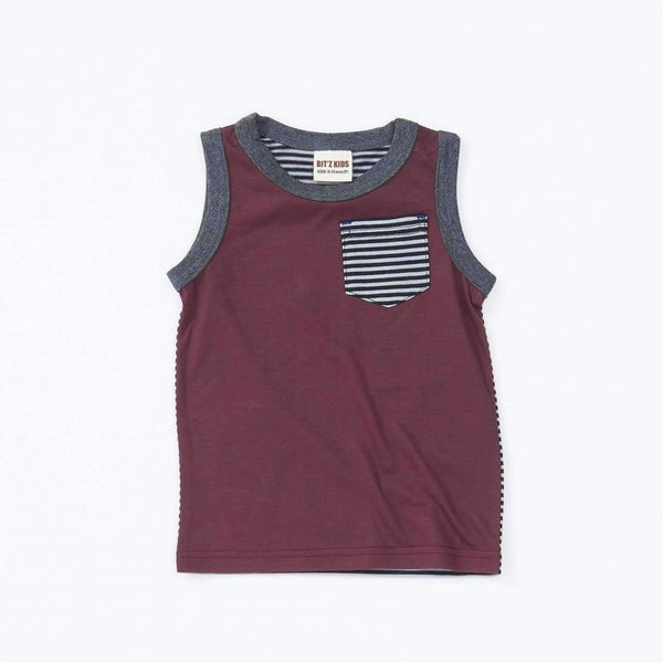 Striped Tank top - RED  18ss