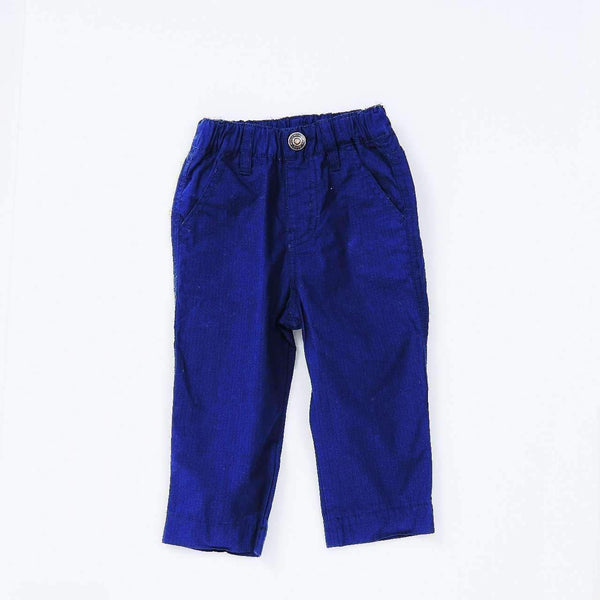 rip stop cotton straight pants navy blue 18ss navy blue