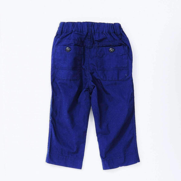 Rip-Stop Cotton Straight Pants - NAVY BLUE 18ss