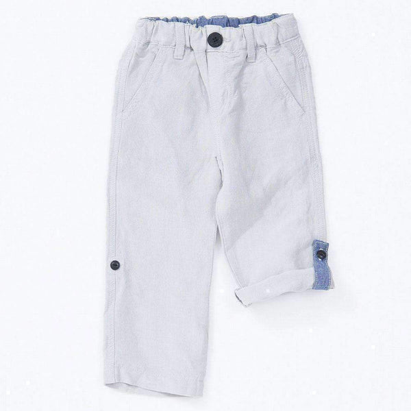 linen roll up pants gray 18ss grey