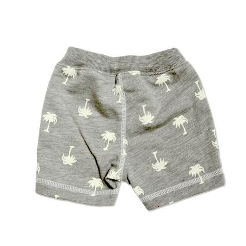 Baby's Geometric Knit Shorts - Gray