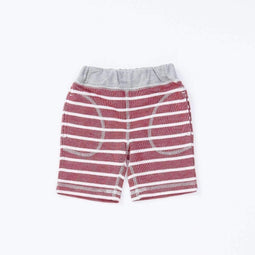 Striped Knit Shorts - RED  18ss