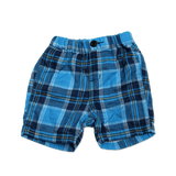 Baby's W Gauze Plaid Shorts - Blue - Bit'z Kids