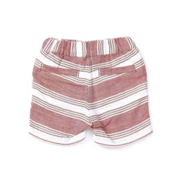 Baby Boys' W Gauze Stripe Shorts - RED  18ss - Bit'z Kids