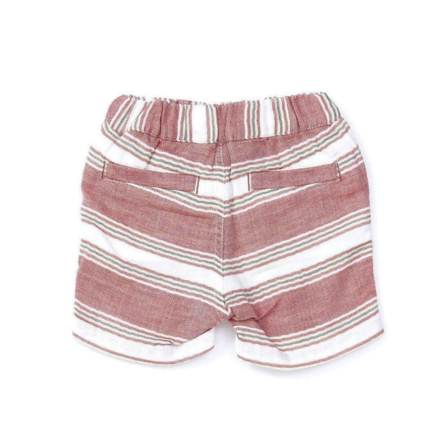 Baby Boys' W Gauze Stripe Shorts RED 18ss - Bit'z Kids