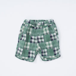 Baby Boys' W Gauze Plaid Shorts  - GREEN 18ss - Bit'z Kids