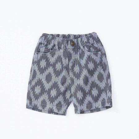 Dino & Lightning Printed Shorts - BLUE 18ss