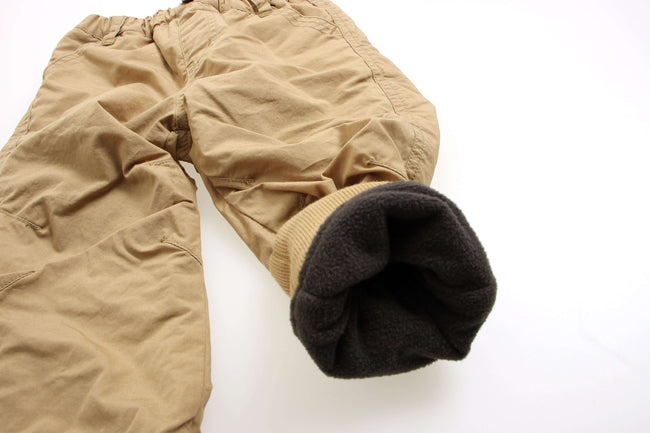 Fleece Lined Jogger Pants - Camel