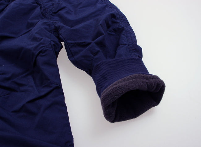 Fleece Lined Jogger Pants - Navy Blue