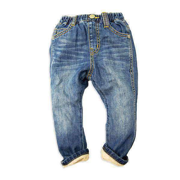 Light Ounce Lined Denim Pants - BLUE 18aw