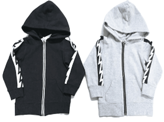 Thunder Hooded (Black/Gray)