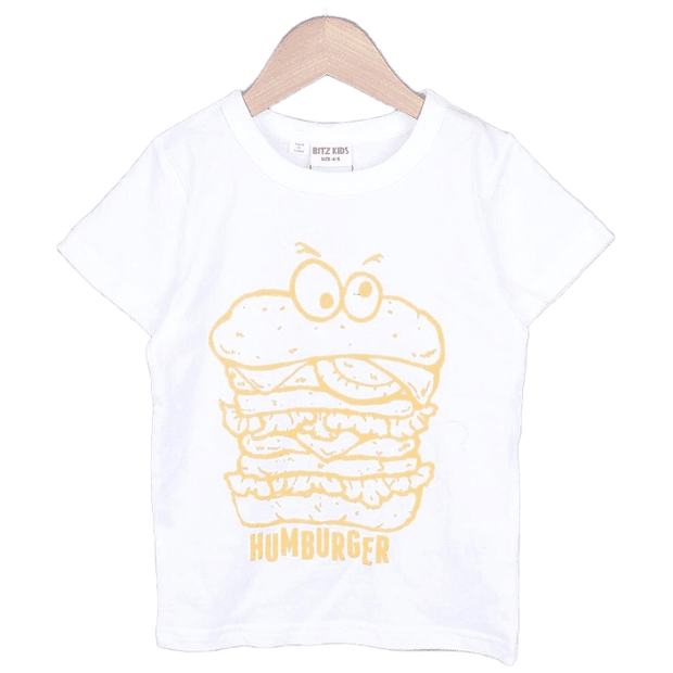 Hamburger T-shirt (Black/White)