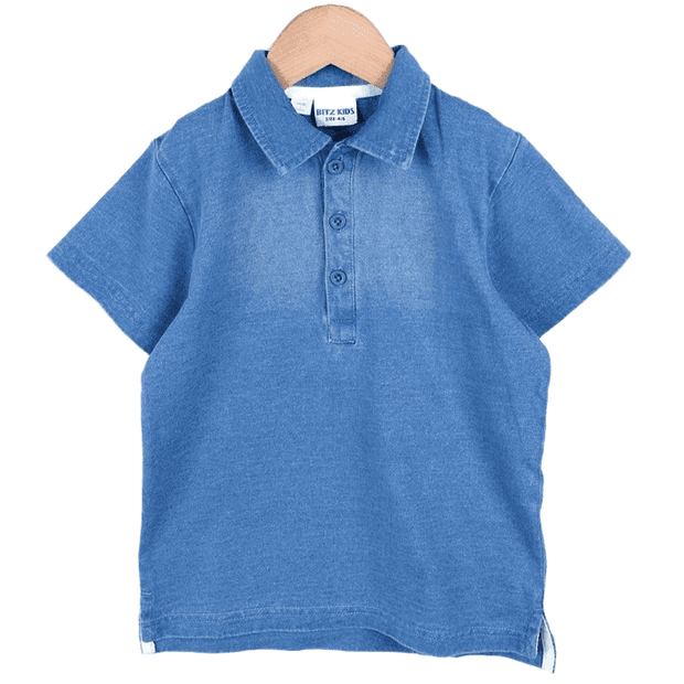 Indigo Polo Shirt (Navy blue/Sax)