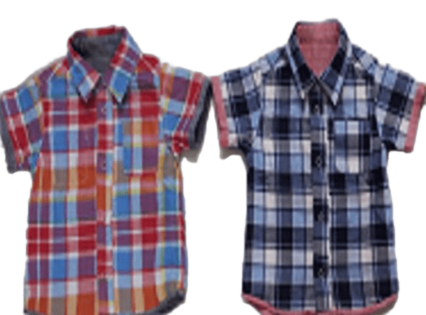 Reversible W Gauze Shirt (Yellow, Black, Red)