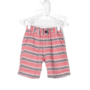 Easy Pull on Stripe Gauze Shorts
