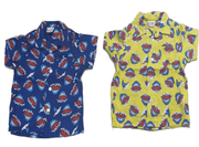Shark Aloha Shirt (Red/Blue/Yellow)