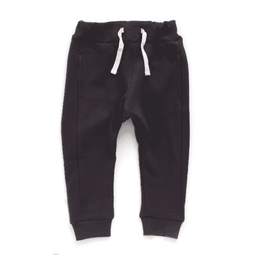 shaggy elastic waist pants charcoal