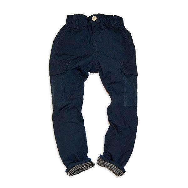 Stripe Lined Cargo Pants - NAVY BLUE 18aw