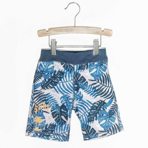 Jungle Knit Shorts - Navy Blue