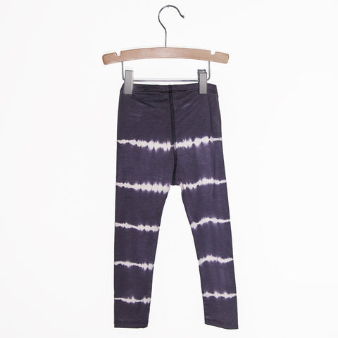 Girl's Tie dye Leggings - Charcoal