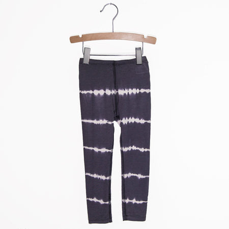 Denim Knit Leggings - Black