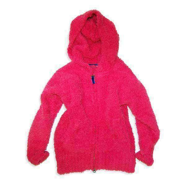 Girl's Marshmallow Knit Zip Up Hoodie - PINK 18aw - Bit'z Kids