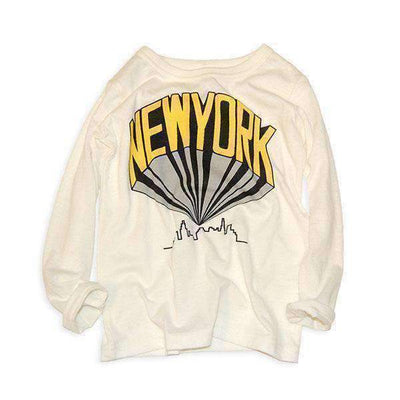 new york tee off white