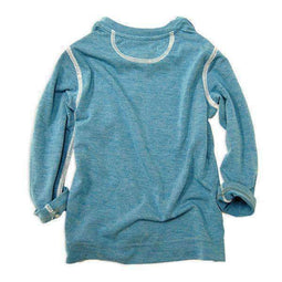 henley neck tee blue