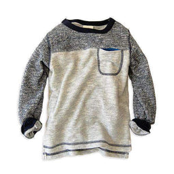 mix color block sweatshirt navy blue