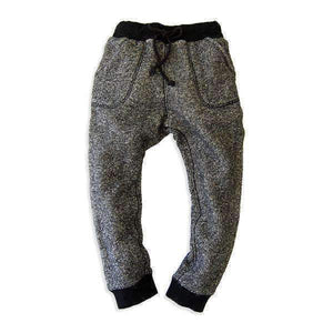 heather color sweatpants black
