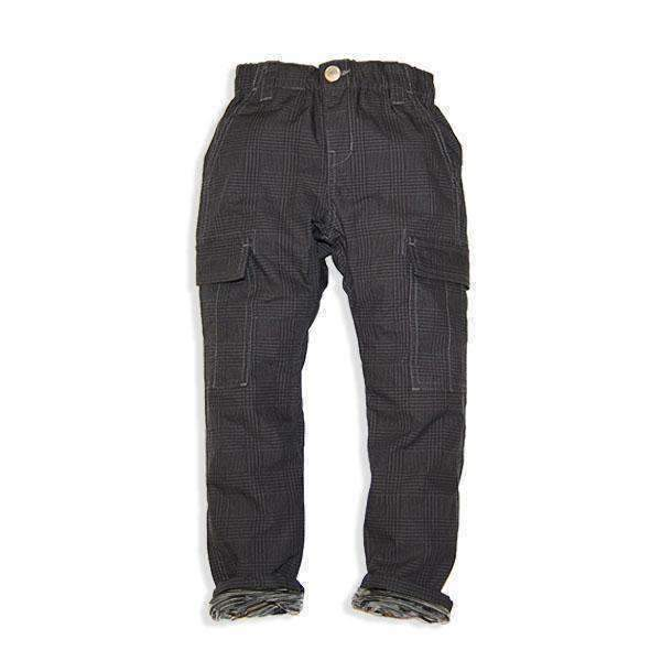 Stripe Lined Cargo Pants - CHARCOAL 18aw