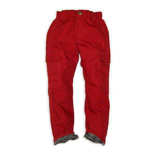 Stripe Lined Cargo Pants - RED 18aw