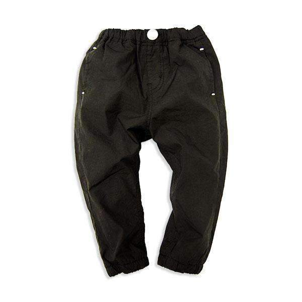 Fleece Lined Jogger Pants - BLACK 18aw - Bit'z Kids