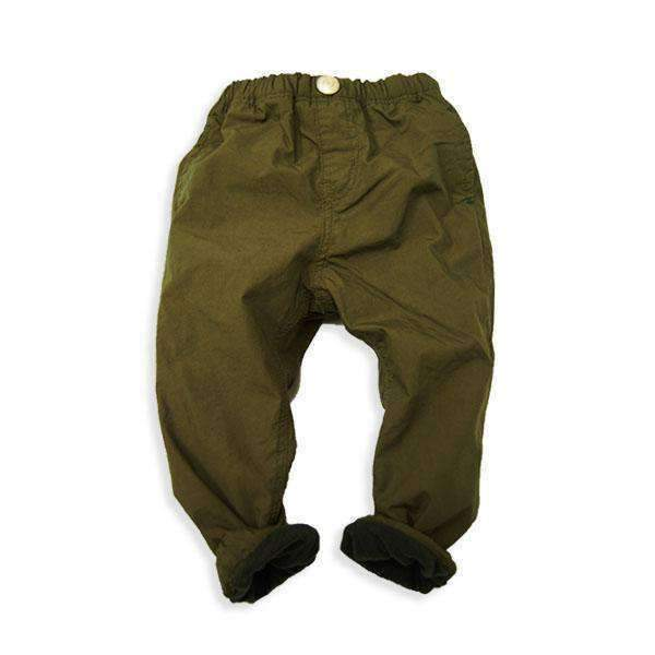 Fleece Lined Jogger Pants - KHAKI18aw - Bit'z Kids