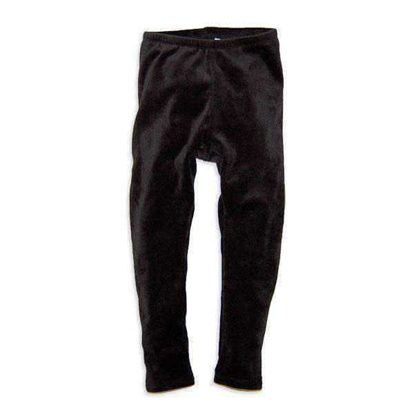 Girls' Super Soft Velour Bottoms - BLACK 18aw - Bit'z Kids