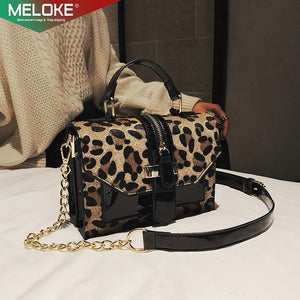 Trendy Chains Bag Personalized handbags Leopard Print bags Brand original design crossbody bags for women messenger bags M338